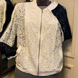 INC black and white lace jacket